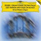 "Copertina dell'album ""Reubke: Organ Sonata ""The 94th Psalm"" / Liszt: Fantasia and Fugue on ""Ad nos, ad salutarem undam"""""