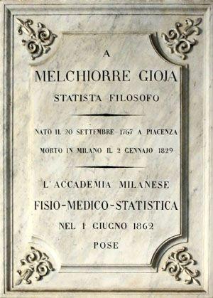 Targa a Melchiorre Gioia