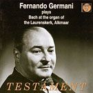"""Copertina dell'album """"Fernando Germani plays Bach at the organ of the Laurenskerk, Alkmaar"""""""